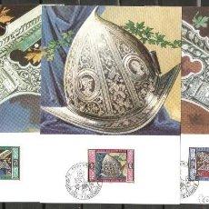 Sellos: LIECHTENSTEIN 1985. MÁXIMAS YT 831/833. ARMAS.. Lote 218928860