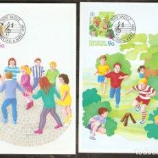 Sellos: LIECHTENSTEIN 1989. MÁXIMA. JUEGOS DE NIÑOS.EUROPA. CEPT. Lote 218933225
