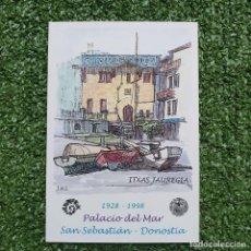 Selos: TARJETA DEL CORREO ESPAÑA #48.-(20-1) (A) EL PALACIO DEL MAR EN SAN SEBASTIÁN 1998. Lote 219010002