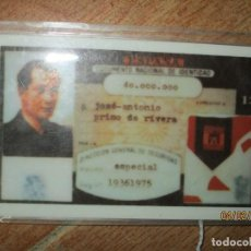 Sellos: FALANGE CARNET SIBOLICO DE JOSE ANTONIO PRIMO DE RIVERA. Lote 187519902