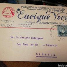 Sellos: ENRIQUE VERA. ELDA 1933. ARTICULOS PARA VIAJE. Lote 220785858