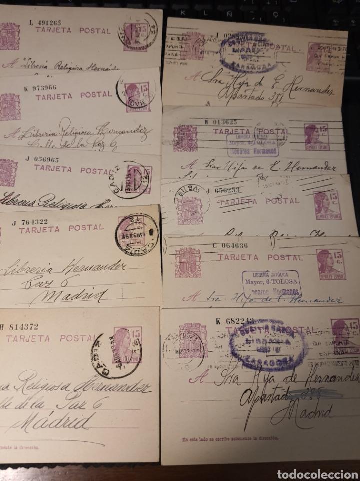 LOTE DE TARJETAS POSTAL ÉPOCA DE LA REPUBLICA .F003 (Sellos - España - Tarjetas)