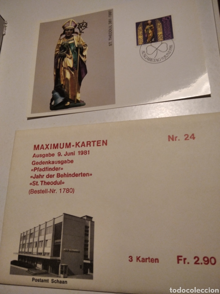 Sellos: Sobre con 3 tarjeta Maxima Liechtenstein 1981 - Foto 2 - 220993311