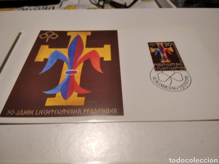 Sellos: Sobre con 3 tarjeta Maxima Liechtenstein 1981 - Foto 3 - 220993311