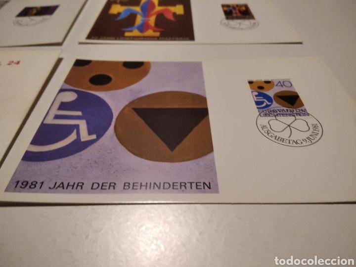 Sellos: Sobre con 3 tarjeta Maxima Liechtenstein 1981 - Foto 4 - 220993311