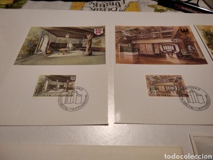 Sellos: Sobre con 4 tarjeta Maxima LIECHTENSTEIN - Foto 2 - 220995027