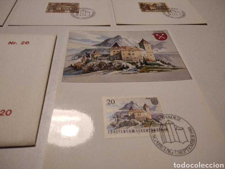 Sellos: Sobre con 4 tarjeta Maxima LIECHTENSTEIN - Foto 4 - 220995027