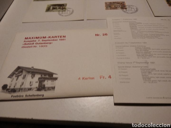 Sellos: Sobre con 4 tarjeta Maxima LIECHTENSTEIN - Foto 5 - 220995027