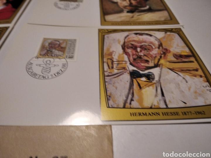 Sellos: Sobre con 4 tarjeta Maxima LIECHTENSTEIN personajes, 1981 - Foto 4 - 220995315