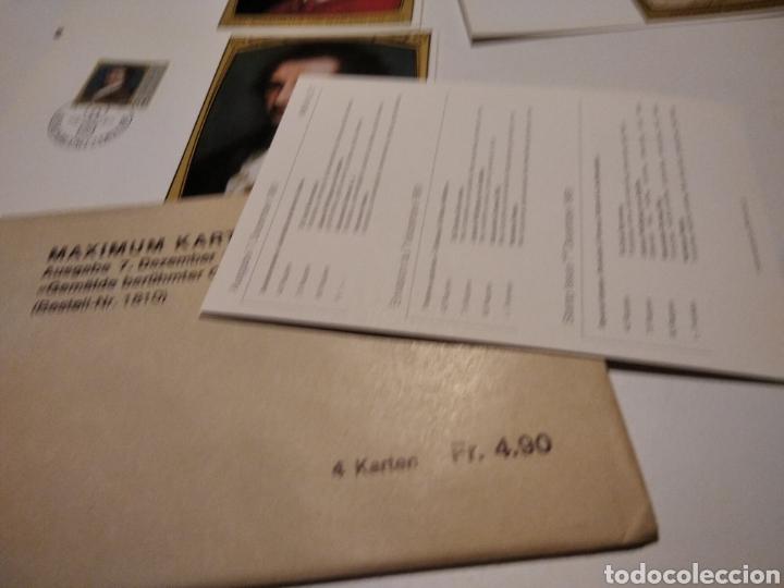 Sellos: Sobre con 4 tarjeta Maxima LIECHTENSTEIN personajes, 1981 - Foto 5 - 220995315