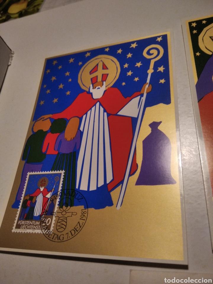 Sellos: Sobre n28 3 tarjeta Maxima LIECHTENSTEIN nacimiento 1981 - Foto 2 - 220995598