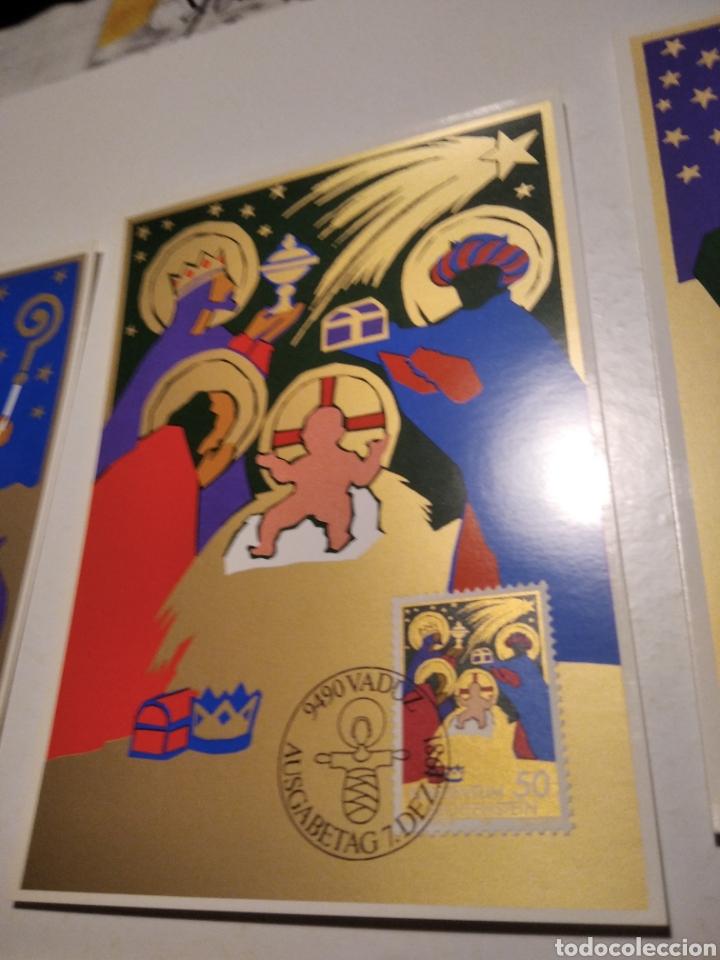 Sellos: Sobre n28 3 tarjeta Maxima LIECHTENSTEIN nacimiento 1981 - Foto 3 - 220995598