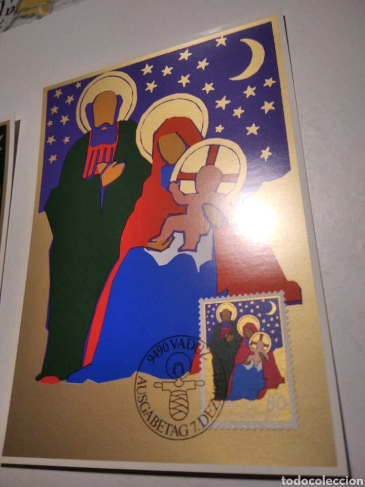 Sellos: Sobre n28 3 tarjeta Maxima LIECHTENSTEIN nacimiento 1981 - Foto 4 - 220995598