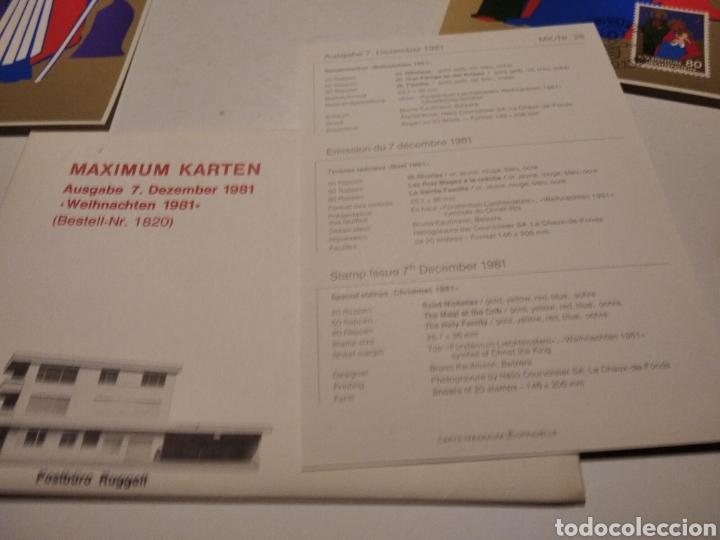 Sellos: Sobre n28 3 tarjeta Maxima LIECHTENSTEIN nacimiento 1981 - Foto 5 - 220995598