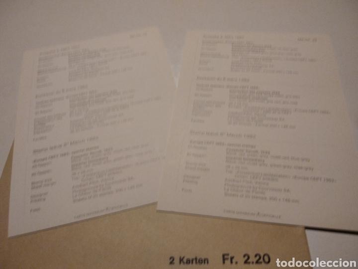 Sellos: Sobre con dos tarjeta Maxima LIECHTENSTEIN 1982 Rey y guerreros - Foto 3 - 220995980