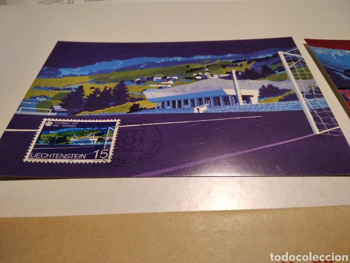 Sellos: Tarjeta Maxima LIECHTENSTEIN sobre n32 mundial de España 1982 - Foto 2 - 221150725