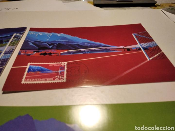 Sellos: Tarjeta Maxima LIECHTENSTEIN sobre n32 mundial de España 1982 - Foto 3 - 221150725