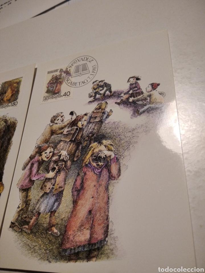 Sellos: Sobre n38 tres tarjeta Maxima LIECHTENSTEIN 1982 - Foto 3 - 221154691