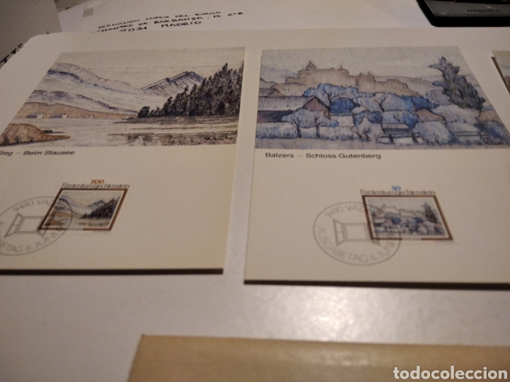 Sellos: Sobre con tres tarjeta Maxima LIECHTENSTEIN - Foto 2 - 221155338
