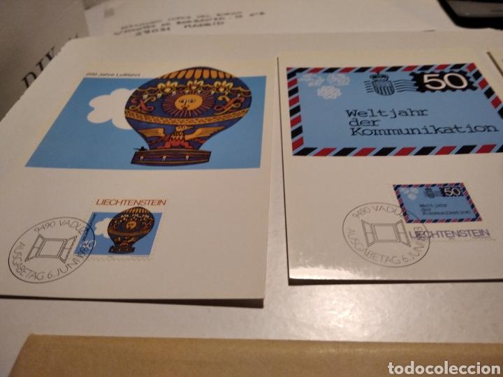 Sellos: Sobre n 40 4 tarjeta Maxima LIECHTENSTEIN 1983 - Foto 2 - 221155642