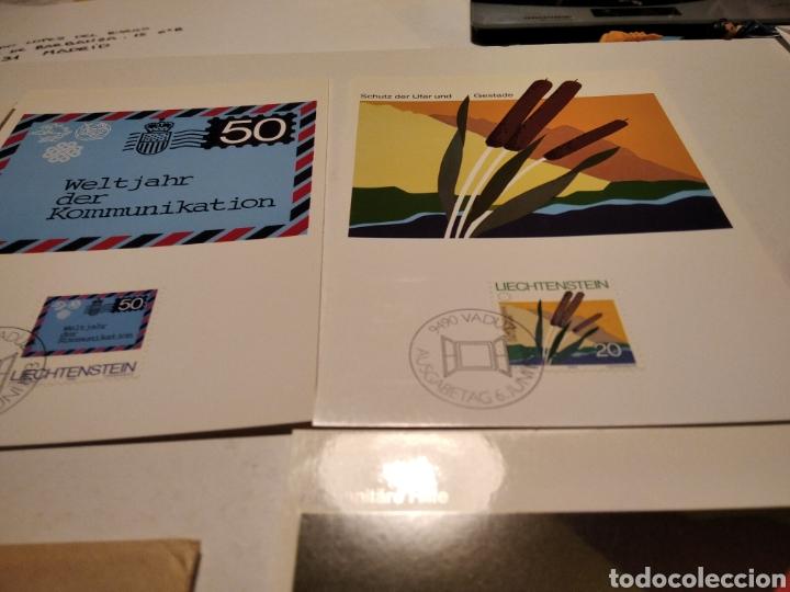 Sellos: Sobre n 40 4 tarjeta Maxima LIECHTENSTEIN 1983 - Foto 3 - 221155642