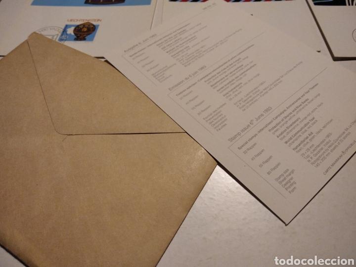 Sellos: Sobre n 40 4 tarjeta Maxima LIECHTENSTEIN 1983 - Foto 5 - 221155642