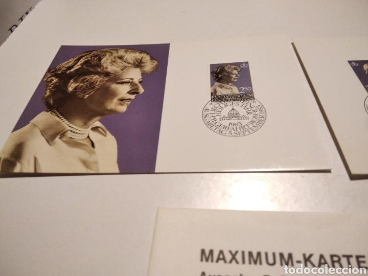 Sellos: Sobre con dos tarjeta Maxima LIECHTENSTEIN 1983 - Foto 2 - 221155880