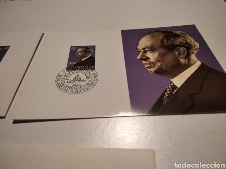 Sellos: Sobre con dos tarjeta Maxima LIECHTENSTEIN 1983 - Foto 3 - 221155880