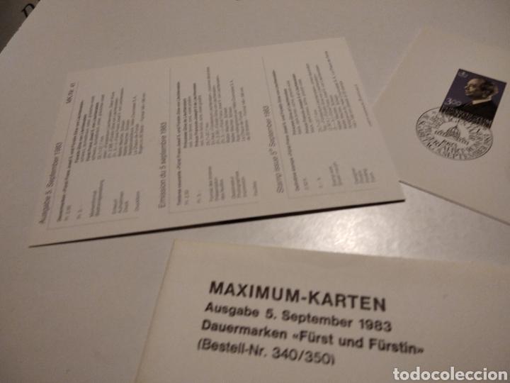 Sellos: Sobre con dos tarjeta Maxima LIECHTENSTEIN 1983 - Foto 4 - 221155880