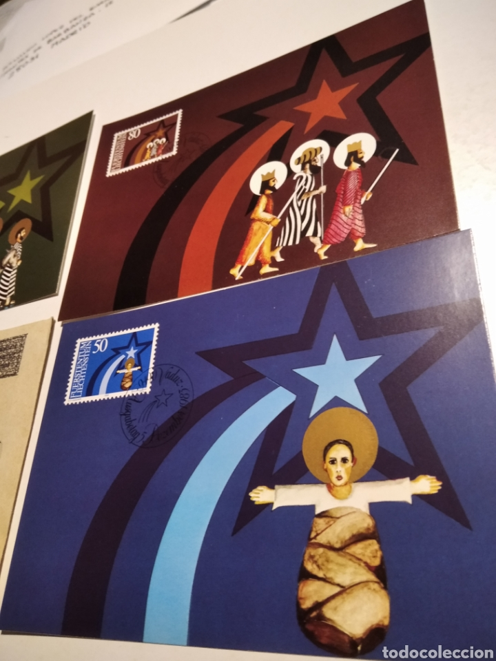 Sellos: Sobre n43 con tres tarjeta Maxima LIECHTENSTEIN 1983 Navidad - Foto 2 - 221156705
