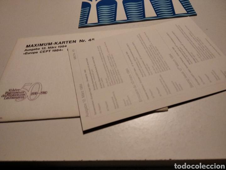 Sellos: Sobre con dos tarjeta Maxima CEPT Europa 1984 - Foto 2 - 221156882