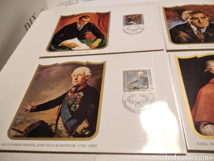 Sellos: Sobre con 4 tarjeta Maxima LIECHTENSTEIN 1984 - Foto 2 - 221157107