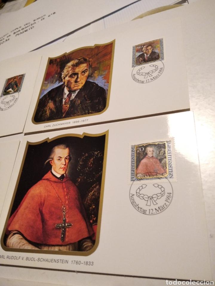 Sellos: Sobre con 4 tarjeta Maxima LIECHTENSTEIN 1984 - Foto 3 - 221157107