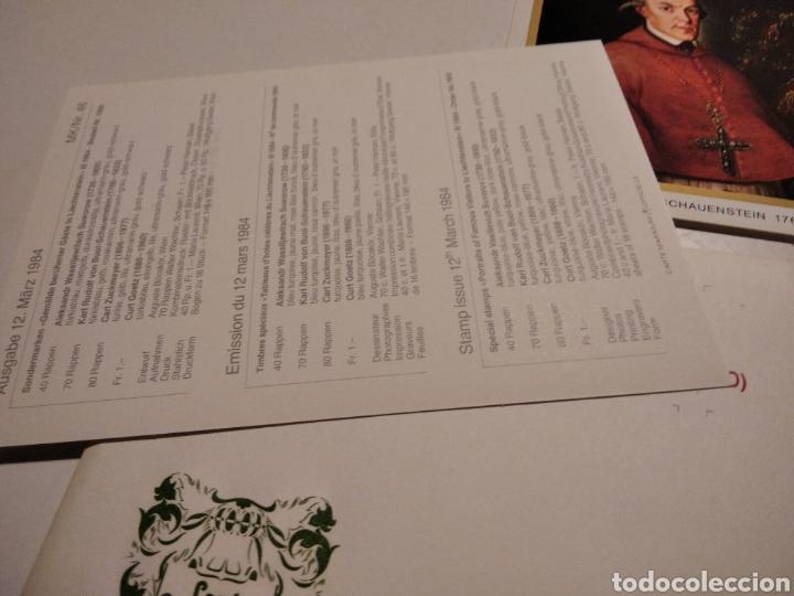 Sellos: Sobre con 4 tarjeta Maxima LIECHTENSTEIN 1984 - Foto 4 - 221157107