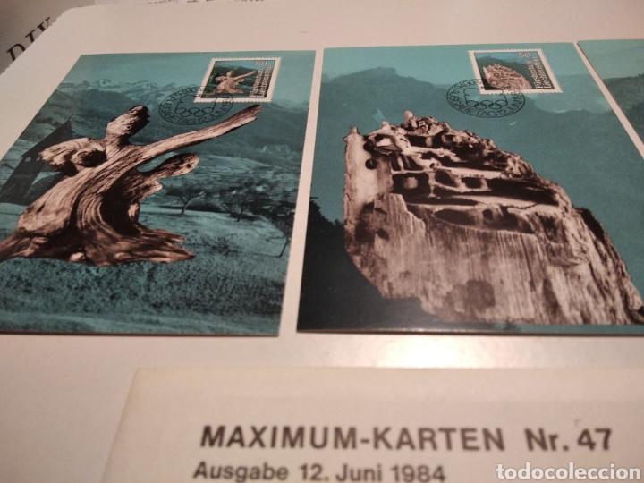 Sellos: Sobre con tres tarjeta Maxima LIBA 82 1984 - Foto 2 - 221157320
