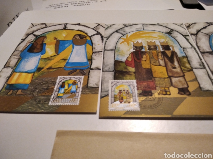 Sellos: Sobre con tres tarjeta Maxima LIECHTENSTEIN Navidad - Foto 2 - 221158133