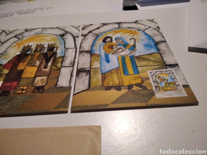 Sellos: Sobre con tres tarjeta Maxima LIECHTENSTEIN Navidad - Foto 3 - 221158133