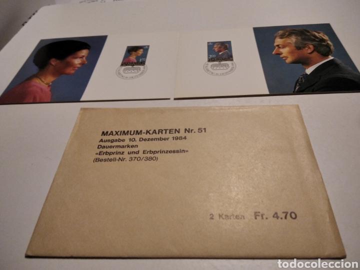 SOBRE N51 DOS TARJETA MAXIMA REYES 1984 (Sellos - Extranjero - Tarjetas Máximas)