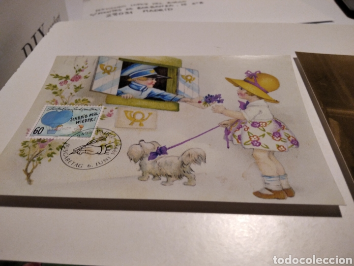 Sellos: 4 tarjeta Maxima LIECHTENSTEIN postales niños - Foto 2 - 221159175