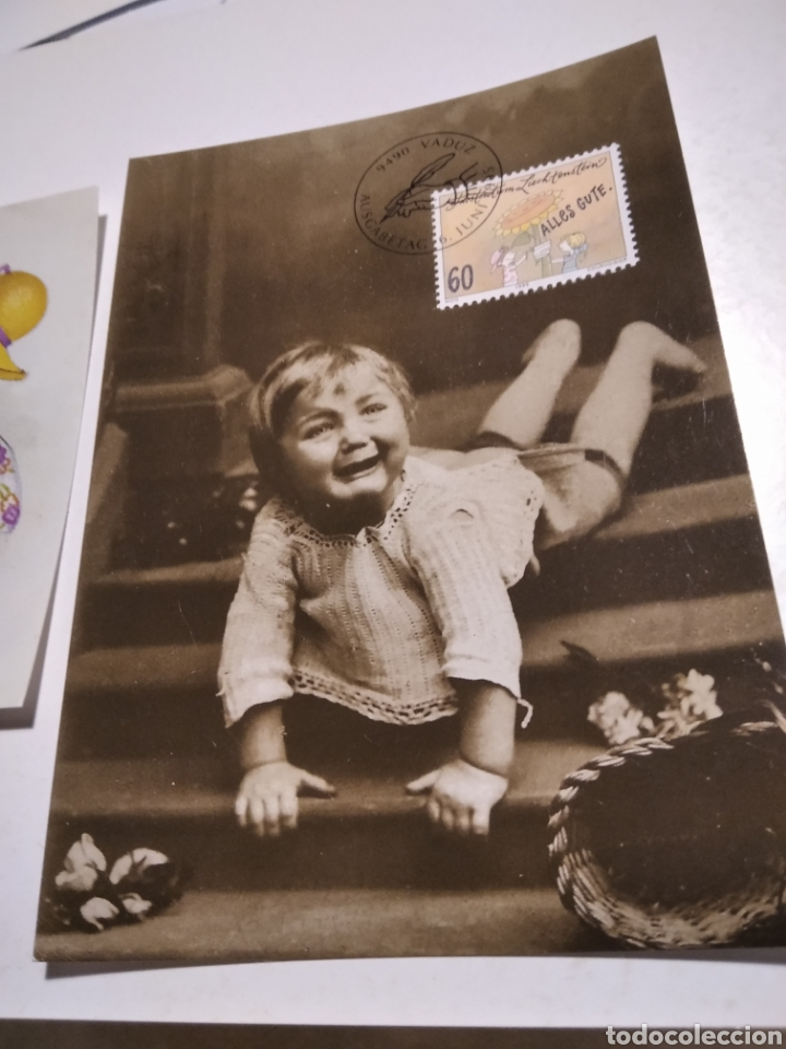 Sellos: 4 tarjeta Maxima LIECHTENSTEIN postales niños - Foto 4 - 221159175