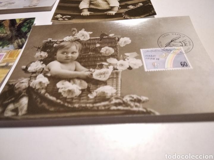 Sellos: 4 tarjeta Maxima LIECHTENSTEIN postales niños - Foto 5 - 221159175