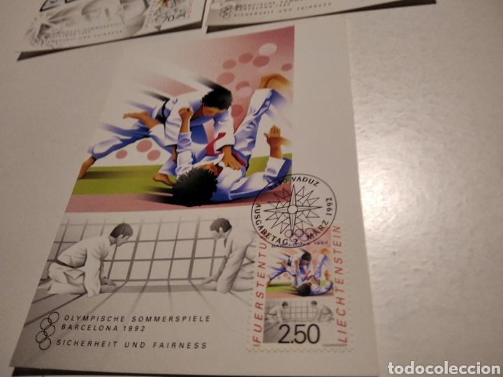 Sellos: Tarjeta Maxima LIECHTENSTEIN Olimpiadas Barcelona 92 - Foto 4 - 221159556