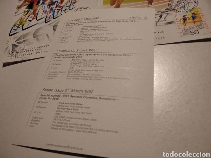Sellos: Tarjeta Maxima LIECHTENSTEIN Olimpiadas Barcelona 92 - Foto 5 - 221159556