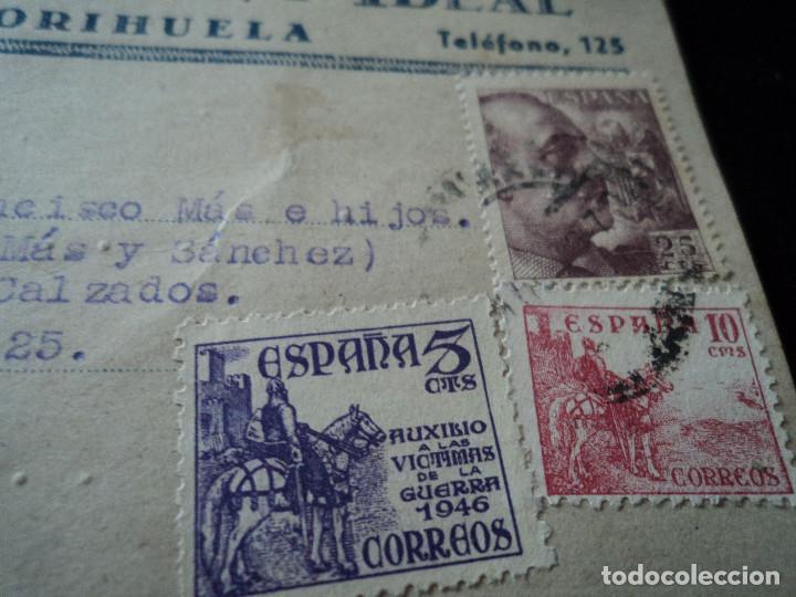 Sellos: TARJETA POSTAL ZAPATERIA LA IDEAL ORIHUELA 1949 - Foto 2 - 221894725