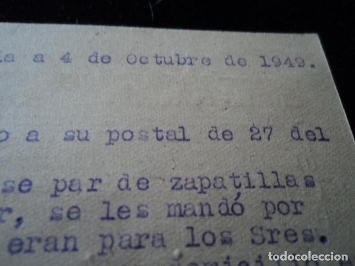 Sellos: TARJETA POSTAL ZAPATERIA LA IDEAL ORIHUELA 1949 - Foto 3 - 221894725
