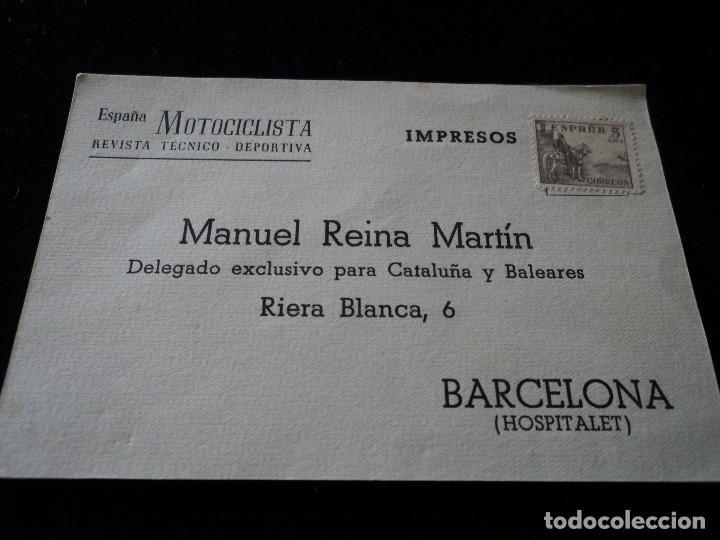 ESPAÑA MOTOCICLISTA REVISTA TECNICO DEPORTIVA 195...? (Sellos - España - Tarjetas)