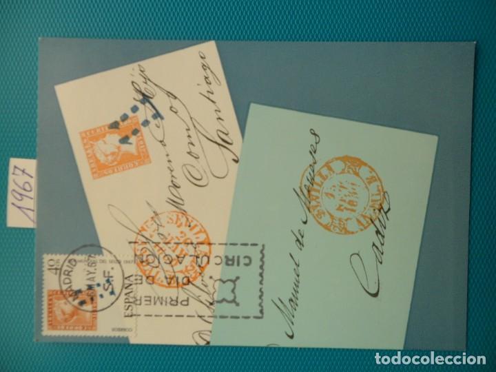 1967-ESPAÑA-TARJETAS MAXIMAS-DIA MUNDIAL DEL SELLO (Sellos - Extranjero - Tarjetas Máximas)
