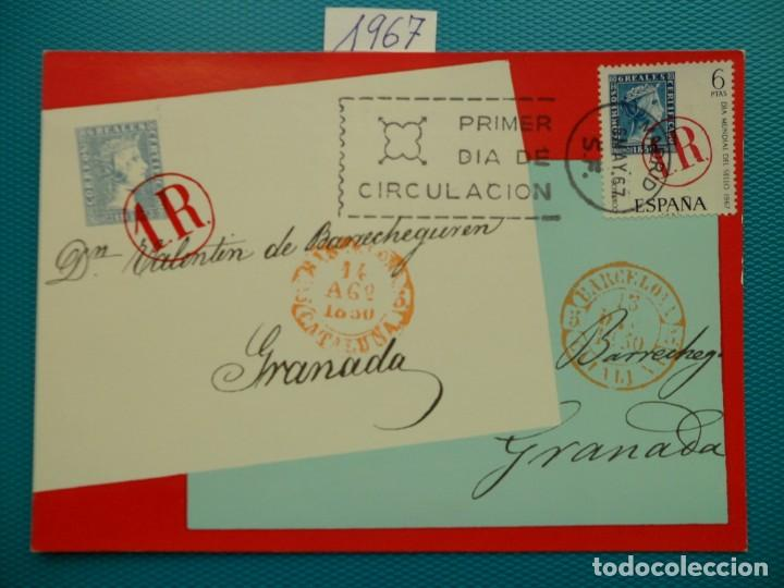 Sellos: 1967-ESPAÑA-TARJETAS MAXIMAS-DIA MUNDIAL DEL SELLO - Foto 3 - 222103042