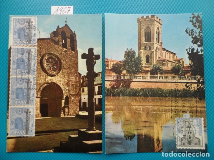 1967-ESPAÑA-TARJETAS MAXIMAS-SERIE TURISTICA-GRUPO 4 (Sellos - Extranjero - Tarjetas Máximas)