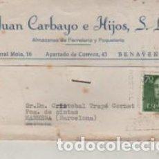 Francobolli: TARJETA COMERCIAL DE JUAN CARBAYO E HIJOS S.L. DE BENAVENTE - FERRETERIA 1962. Lote 223272482